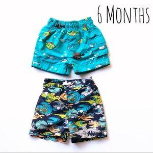 Other - Baby Boy swim shorts bundle of 2 size 6 months